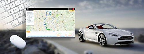Logpit Fahrtenbuch und Diagnose OBD2 Stecker Inkl. SIM Karte und EU Flat – sofort startklar - echtzeit Flottenmanagement GPS Tracker mit Deutscher Software und App. Finanzamtkonform
