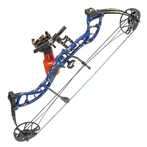 PSE ARCHERY D3 Bowfishing Compound Bow-Kit-Set-Arrow - Blue DK'D - 30-40