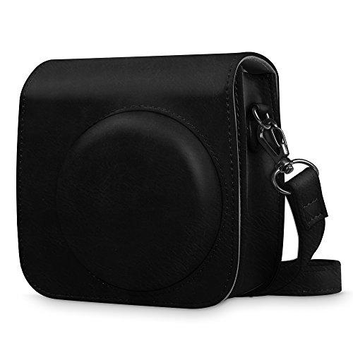 Fintie Tasche für Fujifilm Instax Mini 8 / Mini 9 Sofortbildkamera - Premium Kunstleder Schutzhülle Reise Kameratasche Hülle Abdeckung mit abnehmbaren Riemen, Schwarz