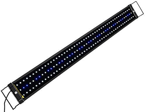 NICREW ClassicLED Eclairage Aquarium, Rampe LED pour Aquarium d'eau Douce, Lumière Aquarium Plantes, 2 Modes Lampe LED pour Aquarium, 90-110 cm, 25W, 7000K