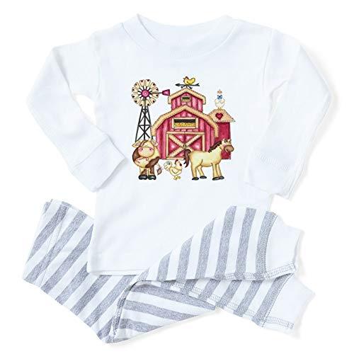 CafePress Farm Animals Toddler Long Sleeve Pajama Set