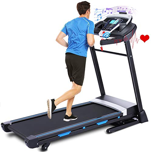 ANCHEER Treadmill, 3.25HP Folding Treadmill for Home with APP Control and Automatic Incline, Running Walking Jogging Machine for Home/Office/Gym Product Name