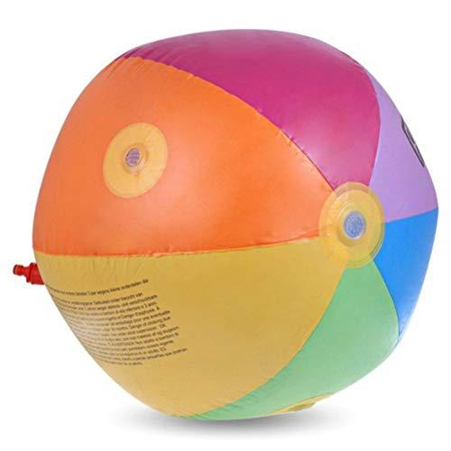 HAOXU Kinder Sprinkler Spielzeug, 75CM Sommer Regenbogen aufblasbare Sprinkler Ball Wassersprühspielzeug für Kinder Sommer Outdoor Rasen Paddeln