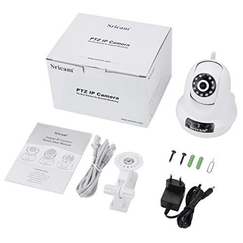 Telecamera IP Sricam PTZ Telecamera 1080P HD Pan 355 ° Telecamera di sicurezza wireless a 90 ° inclinazione Monitoraggio del movimento domestico WiFi 2.0MP WiFi Rilevazione del movimento