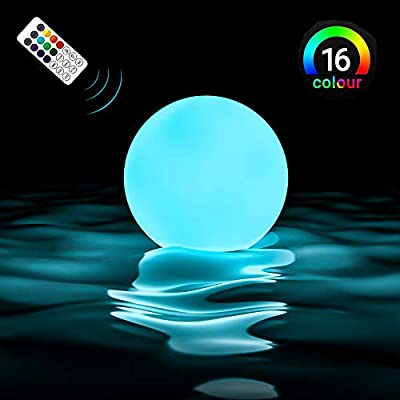Upgrade Floating Pool Light Ball with Remote (RF), Improved IP67 Full Waterproof, RGB Color Changing LED Pool Balls Battery Operated Light Up Bath Toys, Night Light, Decor Lights (1 Pack)
