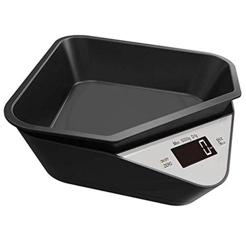 Escala de mascotas 5kg / 1g Cat Dog Scale de la báscula de la escala de la escala de medición electrónica Escala de café Escala de comida al horno de la báscula de la bandeja digital (color: negro 5kg