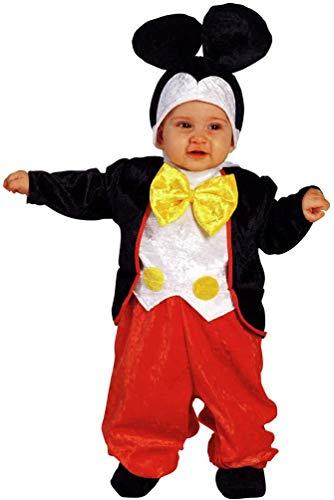 costume carnevale 24 mesi bimbo P.D. Prestige & Deluxe Vestito Costume Carnevale Baby Topolino MICHEY Mouse Taglia 0 6 12 18 24 Mesi (Taglia 18-24 Mesi: Altezza Bimba/o 92 cm)