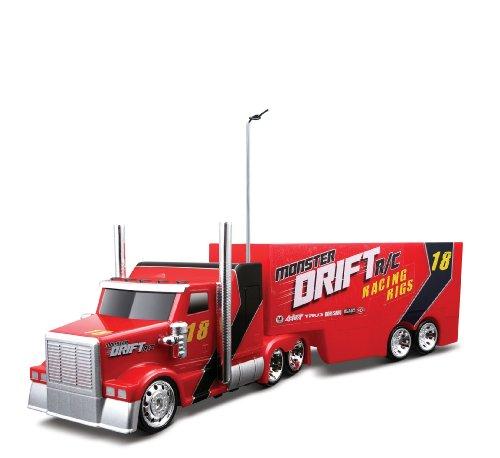 Maisto 581170 - Semi Drift Truck mit Anhänger (farblich sortiert)