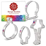 Ann Clark Cookie Cutters 4-Piece Christmas Cookie Cutter Set with Recipe Booklet, Snow Globe, Ornament, Light Bulb and Leg Lamp