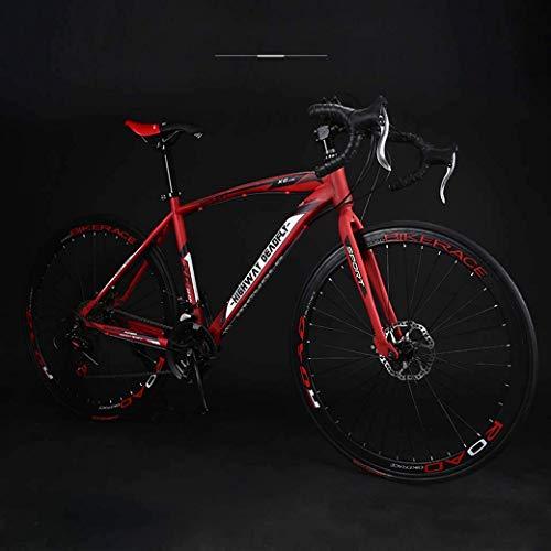 Bicicleta de carretera de 26 pulgadas, bicicletas de 24 velocidades, freno de doble disco, cuadro de acero de alto carbono, carreras de bicicletas de carretera, hombres y mujeres solo para adultos