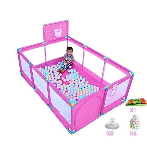 GYZ Barrière de sécurité Intérieur Clôture de Jeu pour Enfants Intérieur de la Maison Clôture de Jeu pour Piscine Marine Tapis de sécurité pour bébé Bambin-Rose (Couleur : B)