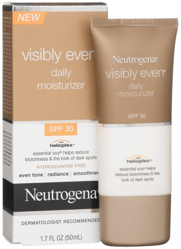 Neutrogena Visibly Even Daily Facial Moisturizer With Broad Spectrum SPF 30 Sunscreen, Essential Soy for Skin Discoloration, Dark Spots, and Even Skin Tone, Hypoallergenic, 1.7 fl. Oz (Pack of 2)
