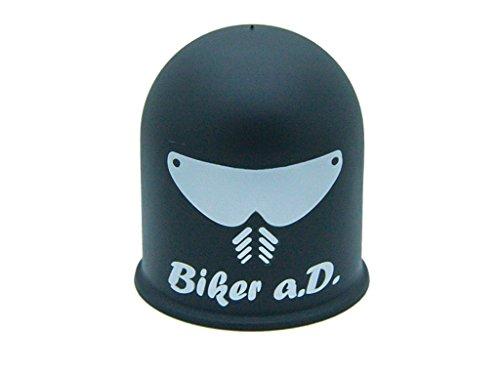 Schutzkappe Anhängerkupplung Biker a.D. Helm Visier Motorrad Mofa Biker schwarz