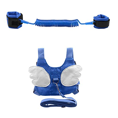 Anti-verloren Gürtel, OFUN Leine für Kinder 2 Stücke, 2,5m Baby Leine Laufleine Baby, Weiche Baumwolle und PU-Material, Kinder Laufleine (Blau) …