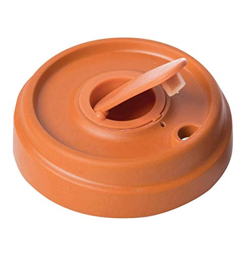 Ersatzdeckel Kaffeebecher BambooCup Bambus Schraubverschluss Deckel (Kaffee Becher) als Ersatz / 9,5 x 9,5 x 2,2 cm (orange)