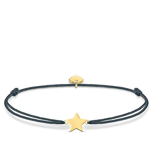 Thomas Sabo Damen-Armband Little Secret Stern 925 Sterling Silber gelbgold vergoldet Grau LS034-898-10-L20v