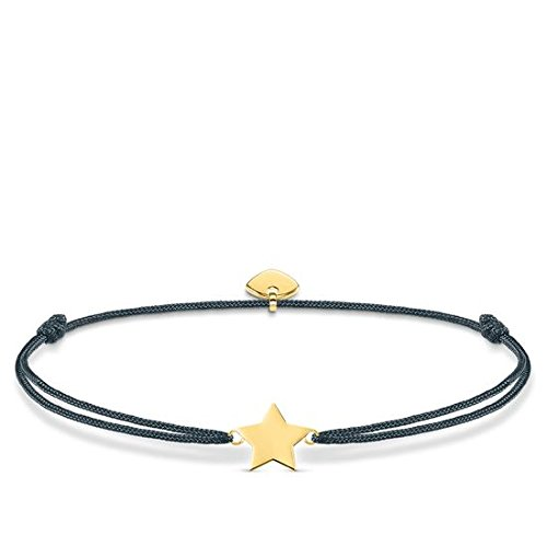 Thomas Sabo Damen-Armband Little Secret Stern 925 Sterling Silber gelbgold vergoldet Grau LS034-898-10-L20v