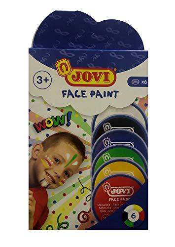 Jovi- Set 6 tarros Maquillaje 8 ml-6 Colores, Multicolor, 6 Unidad (Paquete de 1) (171)