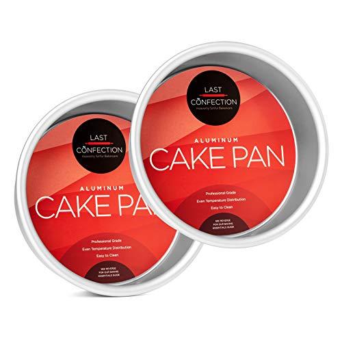 """Last Confection 2-Piece Round Cake Pan Set - 6"""" x 2"""" Deep Aluminum Pans Iowa"""