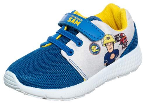 Brandsseller Jungen Sneaker Freizeitschuh Hausschuh Feuerwehrmann Sam - Blau 31/32