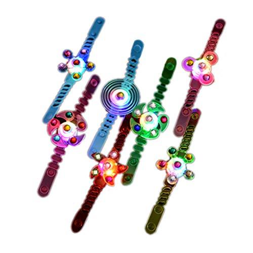 ZJL220 - Anillos luminosos para niños pequeños con punta de dedo, gira en espiral, para niños, anillo de pulsera, vacaciones, regalo