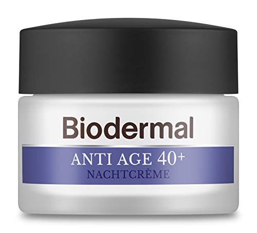 Biodermal Anti Age 40+ - Nachtcrème tegen huidveroudering - Deze nachtcreme helpt de vorming van eerste rimpels te vertragen - 50 ml