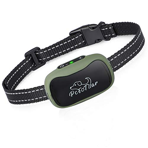 Rechargeable Small Dog Bark Collar, No Bark Collar with Smart Chip for Small Medium Dogs, No Shock No Pain