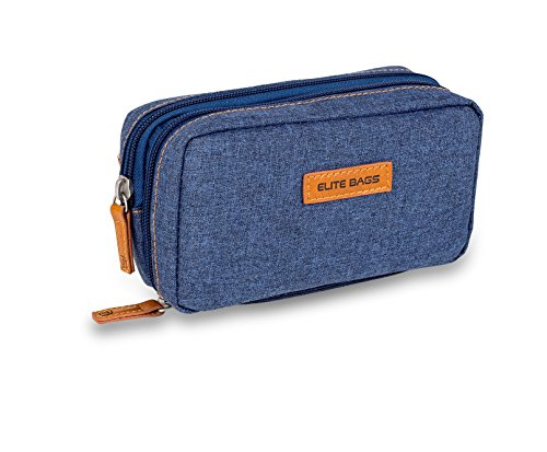 Elite Bags Kühlbeutel für Diabetiker, Farbe: Dunkler Jeansstoff, für Insulinpen und Blutzuckermessgerät