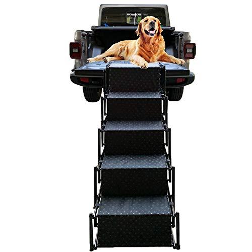Snagle Paw Haustier Hund Auto Schritt Treppe, Akkordeon Falten Haustier Rampe,leichte tragbare Auto große Hundeleiter, ideal für Autos, LKW und SUVs Cargo, Couch und High Bed, 5 Schritte