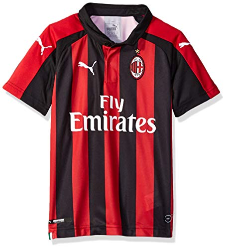PUMA Youth A.C. Milan Licensed Replica Jersey 2018-2019, Large, Home