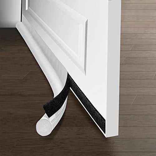 Walant Selbstklebende Tür Türdichtung Dichtungsstreifen, 94,5cm zugluftstopper haustür,waschbar Tür Zugluftstopper für eine effektive Dichtung gegen Zugluft, Lärm, Kälte (weiß)