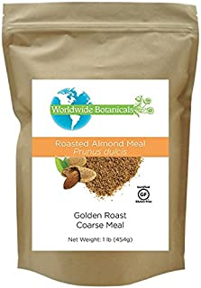 Worldwide Botanicals Roasted Almond Meal, Unblanched, Certified Gluten-Free, Vegan, Paleo 1 lb. (454g)