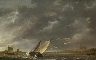 Oil Painting 'Aelbert Cuyp - The Maas At Dordrecht In A Storm,about 1645-50' Printing On High Quality Polyster Canvas , 24x38 Inch / 61x96 Cm ,the Best Living Room Gallery Art And Home Decoration And Gifts Is This Imitations Art DecorativePrints On Canvas