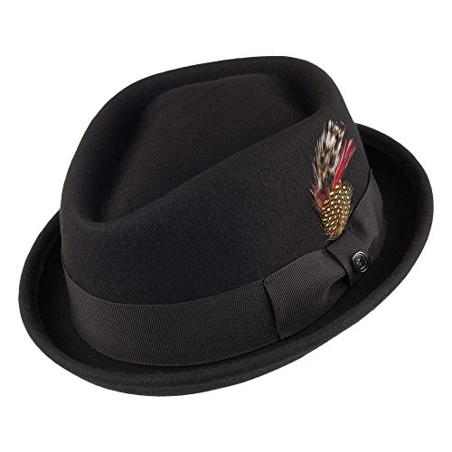 Jaxon & James Chapeau Pork Pie Diamond Crown déformable Noir Medium