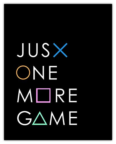 Just One More Game Typography Wall Art Print: Unique Room Decor -...