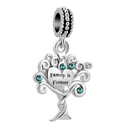 UNIQUEEN Family Tree of Life Dangle Pandora Charms fit Pandora Charm Bracelet & Necklace