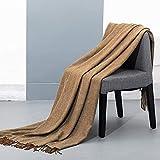 spencer & whitney Bed Blanket Wool Throw Blanket 70% Wool 30% Viscose Brown Soft Wool Blanket Twin Throw Blanket for Bed