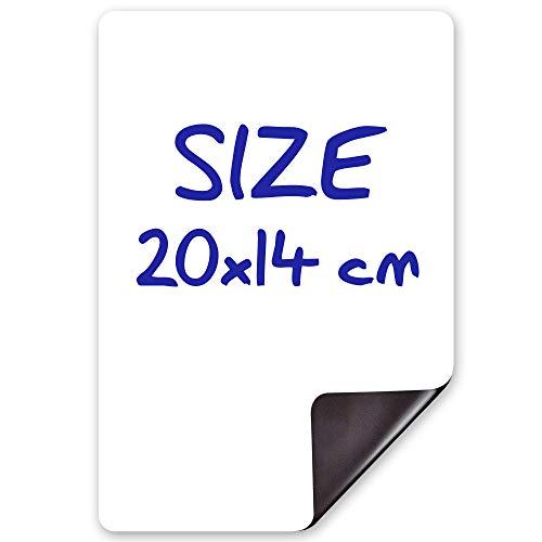 20x14 cm Lavagna Magnetica Bianca per Frigorifero - lavagna magnetica per frigo Ideale per Organizzarsi - Lavagna magnetica cucina