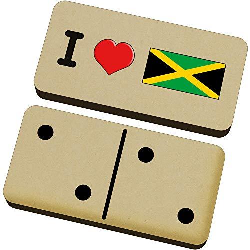 Stamp Press 'I Love Jamaica' Domino-Spiel und Box (DM00000086)