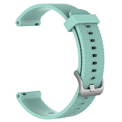 Pulseira de silicone de cor sólida de substituição para relógio inteligente Ticwatch c2 da Szkn verde