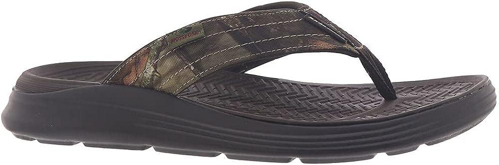 Skechers Men's Thong Sandal Flip-Flop, Chocolate, 11