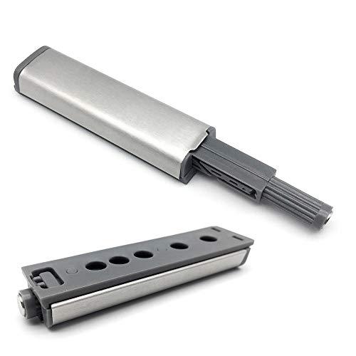 FUJIE 10pcs Amortiguadores Magnéticos para Puerta de Armario Cocina Push To Open System Damper Buffer Cierres Magnéticos para Puertas de Armario, Gris