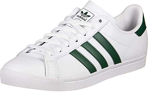 adidas Coast Star, Zapatillas Unisex Adulto, Blanco (Footwear White/Collegiate Green/Footwear White 0), 43 1/3 EU