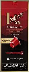 Vittoria Black Valley Coffee Capsules / Pods | Nespresso machine Compatible | Arabica Coffe, Vittori