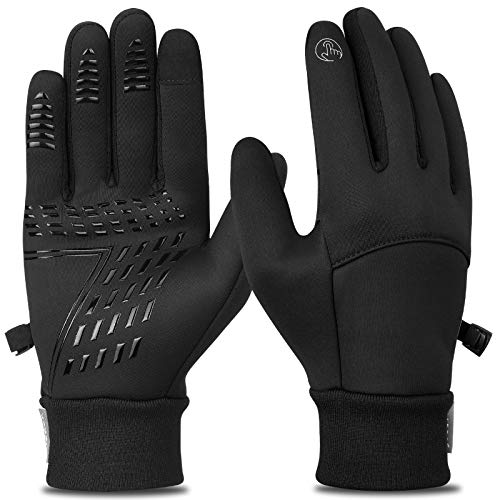 Cevapro 32℉ Winter Gloves Touchscreen Windproof Running Gloves Thermal Cold Weather Gloves for Men Women