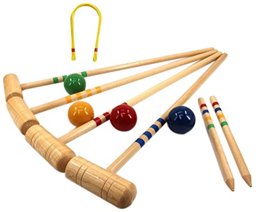 TMI 10-08304 Croquet Set - 4 Player