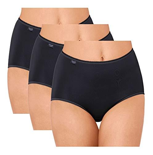 Sloggi Women 24 7 Microfibre Maxi 3 Pack Black, 18