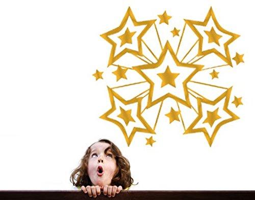 Apalis Wandtattoo No.AS5 Star Explosion Sterne Himmel Explosion Kind Glitzern Sterne, Farbe:Gold;Größe:122cm x 131cm