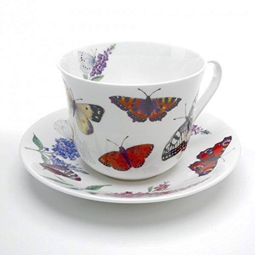 Roy Kirkham Butterfly Garden Breakfast Cup and Saucer 0.45L