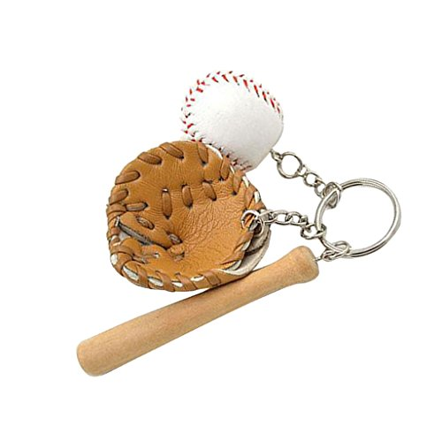 Sharplace Mini Baseball Schläger Taschenanhänger Schlüsselanhänger, Deko Anhänger
